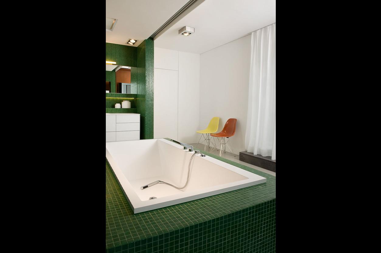 Dreyer Bad, Aqua Cultura Referenz, großes Bad, Loft, offen