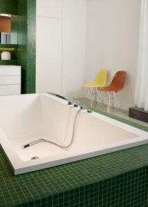 Dreyer Bad, Aqua Cultura Referenz, großes Bad, Loft, Wanne