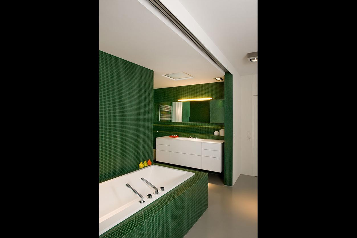 Dreyer Bad, Aqua Cultura Referenz, großes Bad, Loft, Wanne, Waschpaltz
