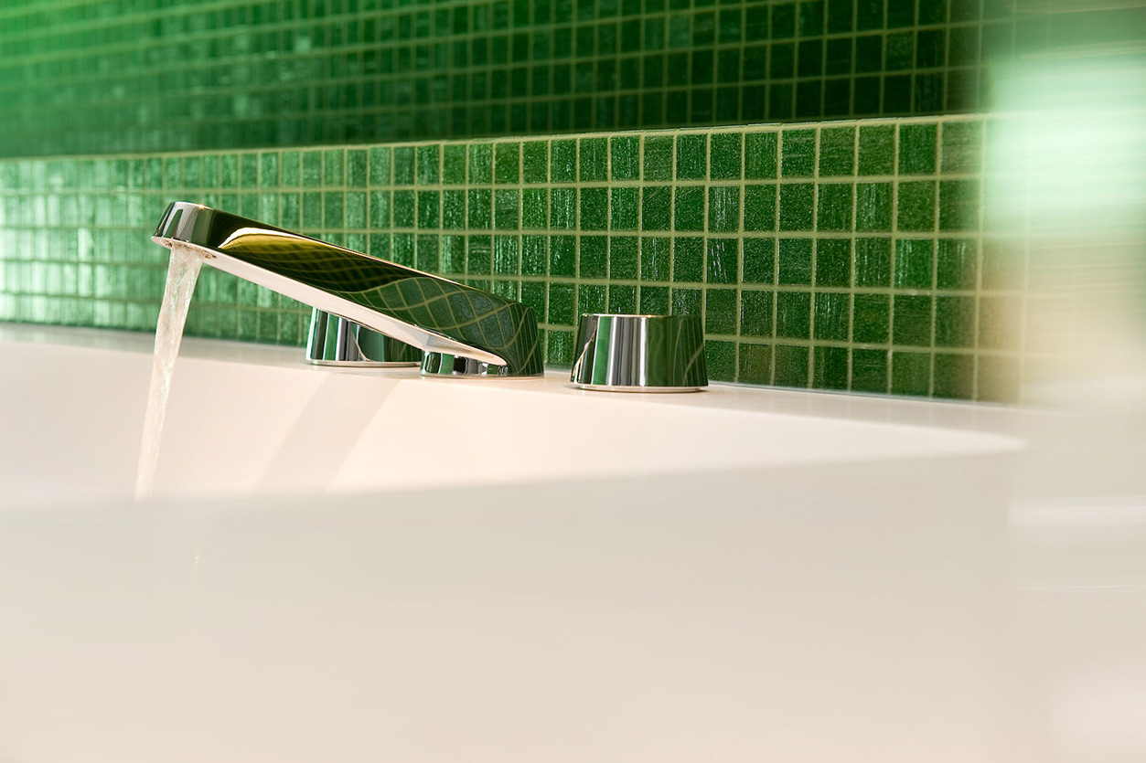 Dreyer Bad, Aqua Cultura Referenz, Wellnessbad, eleganter Stil, Detail Armatur