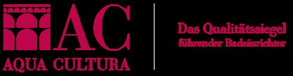 Aqua Cultura Logo, Qualitätssiegel führender Badeinrichter, Deutschland