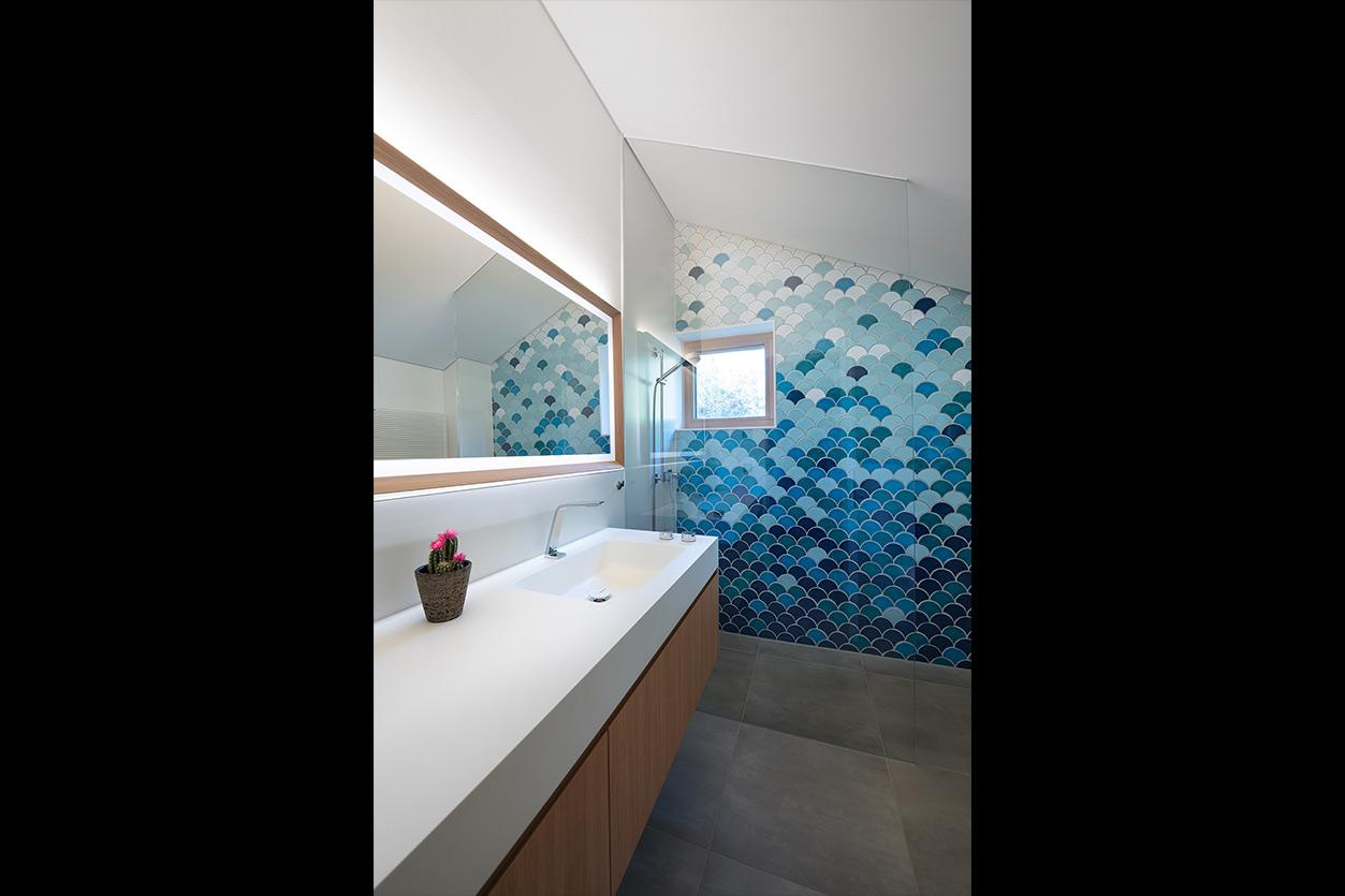 Dreyer Bad, Aqua Cultura Referenz, großes Bad, Kinderbad, Waschtisch